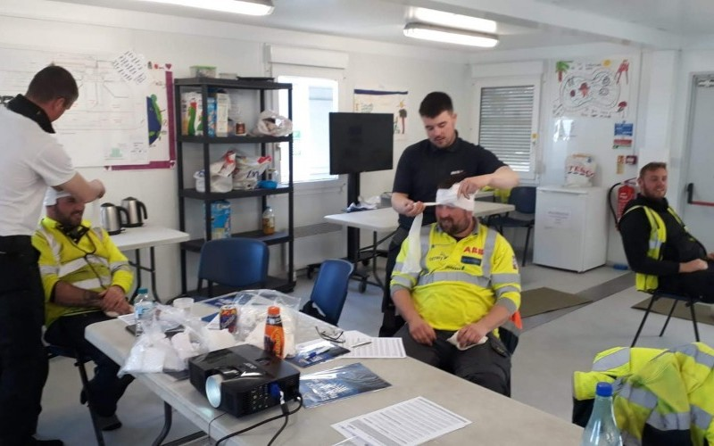 First aid training course with Outfit Moray