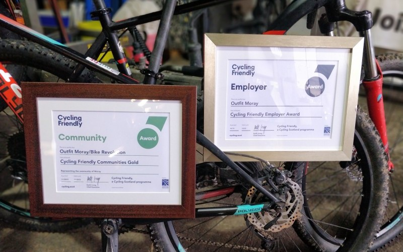 Cycle Friendly Employer - Outfit Moray